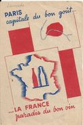 75 PARIS -  Capitale Du Bon Gout ,La France Paradis Du BON VIN (  Plan Du METRO Carte PUB ) - Cafés, Hôtels, Restaurants
