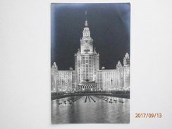 Postcard Moscow Building Of Lomonosov State University On Lenin Hills  My Ref B21902 - Russia