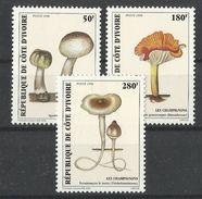IVORY COAST  1998   MUSHROOMS   SET   MNH - Champignons