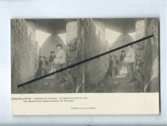 CPA Stéréoscopique - Locmariaquer -Intérieur Du Dolmen-La Tables Des Marchands- Les Monuments Mégalithiques De Bretagne - Locmariaquer