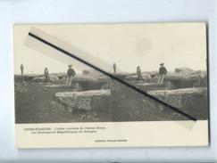 CPA Stéréoscopique - Locmariaquer - L'Allée Couverte De Pierres Plates - Les Monuments Mégalithiques De Bretagne - Locmariaquer