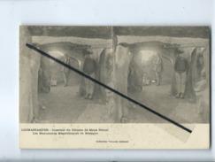 CPA Stéréoscopique - Locmariaquer - Intérieur Du Dolmen De Mané Rétual  - Les Monuments Mégalithiques De Bretagne - Locmariaquer