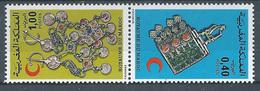 Maroc YT N°762A Croissant-Rouge Marocain (Paire Se-tenant) Neuf ** - Marocco (1956-...)
