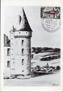 1- FRANCE Carte Maximum Yvert 1726 Bazoches Vauban Château - Sté Clamecynoise De Philatélie - Cartas Máxima