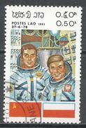 Laos 1983. Scott #450 (U) INTERCOSMOS Space Cooperation Program - Laos