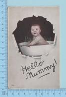 Enfant - Hello Mummy, Baby In A Antique Baby Bath Tub - 2 Scans - Enfants