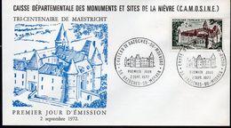 FRANCE FDC Yvert 1726 Bazoches Vauban Château - Sté Clamecynoise De Philatélie - FDC