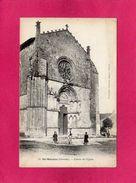 33 GIRONDE, St-MACAIRE, Entrée De L'Eglise, Animée, (Gautreau) - Autres Communes