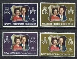 1972  Noces D'argent Reine Elizabeth II  2 Séries: Légendes Française Et Anglaise  Yv 354-7  ** - Ungebraucht
