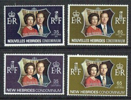 1972  Noces D'argent Reine Elizabeth II  2 Séries: Légendes Française Et Anglaise  Yv 354-7  ** - Französische Legende