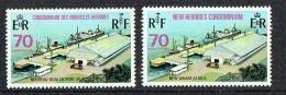1973  Nouveau Quai De Port-Vila 70 C.  Légendes Française Et Anglaise  Yv 367, 369** - Ungebraucht