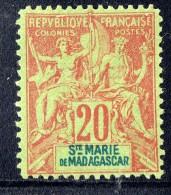 Groupe 20  Cent. Yv 7 (*)  Faux De Fournier - Madagascar – Sainte-Marie (1894-1898)