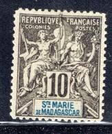 Groupe 10  Cent. Yv 5 (*)   Faux De Fournier - Madagascar – Sainte-Marie (1894-1898)
