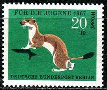 A07-29-3) Berlin - Michel 300 - ** Postfrisch (B) - 20+10Pf  Pelztiere, Jugend 67, Hermelin - [5] Berlin