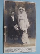 Koppel / Couple TROUW - MARIAGE Identificier ( CABINET Photo Hubert GOOSSENS Liège ) IDENTIFY ! - Anonymous Persons