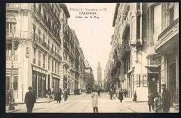 VALENCIA- ESPANA -- Original CPA  Calle De La Paz -animée -Paypal Free - Valencia
