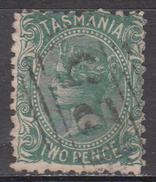 TASMANIA     SCOTT NO. 54    USED    YEAR  1871      WMK 76 - 1853-1912 Tasmania