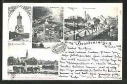 AK Brandenburg, Realgymnasium & Johanneskirche, Humboldtgarten, Dom - Brandenburg
