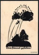 A6387 - Alte Glückwunschkarte - Scherenschnitt - Georg Plischke Nr. 28 - Werner Klotz Zittau - Silhouettes
