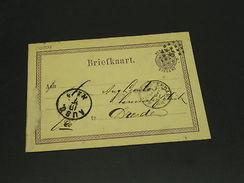 Netherlands 1876 Postal Card To Germany Faults *20209 - Netherlands