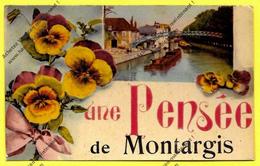 CPA 45 Une Pensée De MONTARGIS 1942 ( Peu Commune ) - Montargis