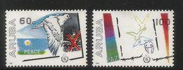 1986  Aruba Peace Year Complete Set Of 2 MNH - Curacao, Netherlands Antilles, Aruba
