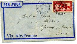 5 Cachets  Saigon Cochinchine Par Avio Via Air Mail à à Paris 8 Rue Du Chateau Epernay    Dossier Factures 8 - Postmark Collection (Covers)
