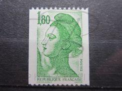 "VEND BEAU TIMBRE DE FRANCE N° 2378a , N° "" 000 "" , XX !!! - 1982-90 Liberty Of Gandon"