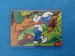 1996 FERRERO PUZZLE PUFFI LAVORATORI K97 N 107 + Cartina - Puzzles