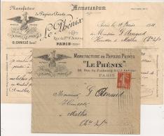 PARIS XII R. CROZATIER, LE PHENIX, Belle Illustration, PAPIERS PEINTS. MINJARD & LIENART. - 1877-1920: Semi-moderne Periode