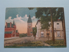 Zicht Van Den Post En Der Kerk () Anno 1919 ( Zie Foto Voor Details ) !! - Leopoldsburg