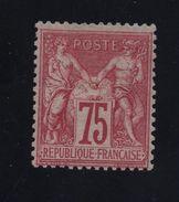 YVERT N° 71 * SIGNE CALVES + CERTIFICAT FRANCOIS FELDMAN - 1876-1878 Sage (Type I)