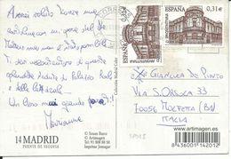 SP015 -SPAGNA - CARTOLINA DA MADRID A MOLFETTA 20.1.2008 - N°4042x2 - CATALOGO UNIFICATO - 1931-Oggi: 2. Rep. - ... Juan Carlos I