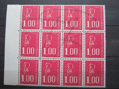 VEND BEAUX TIMBRES DE FRANCE N° 1892b EN BLOC DE 12 + BDF , XX !!! - 1971-76 Maríanne De Béquet