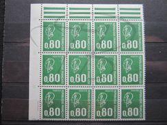 VEND BEAUX TIMBRES DE FRANCE N° 1891b EN BLOC DE 12 + BDF , XX !!! - 1971-76 Marianne Of Béquet