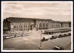 A6794 - Alte Ansichtskarte - Straßburg Bahnhof - Straßenbahn LKW  - Straßenszene - Transporter & LKW
