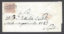 NAPOLI 1858 2Gr COVER BARI TO NAPOLI - Naples