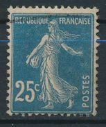 France-Semeuse 25 C Bleu YT 140r (GC) Obl. - 1906-38 Semeuse Camée