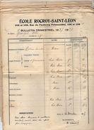 VP10.812 - PARIS - Ecole Rocroy - Saint - Léon - 9 Bulletins Scolaires - Elève ALLO & Divers - Diplômes & Bulletins Scolaires