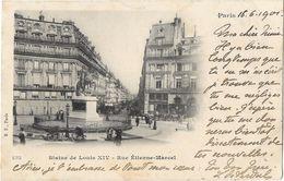 Paris - Statue De Louis XIV - Rue Etienne-Marcel - Statues