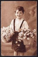 ENFANT - Garçonnet Avec Paniers De Fleurs - Non Circulé - Not Circulated - Nicht Gelaufen. - Enfants