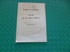 Musique En Chiffre Cours De M.Emile Chevé 8 Pages Pub Illustrée Au Do - Music & Instruments