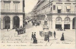 Paris - La Rue Des Pyramides - Statue De Jeanne D'Arc - Statues