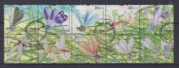 Malaysia 2000 Dragonflies & Damseleflies Booklet Stamps CTO - Maleisië (1964-...)