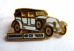 PIN'S CEF PARIS RENAULT 40 CV 1926 - AUTOMOBILE ANCIENNE VOITURE COLLECTION Sans Attache - Other