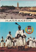 MAROC----MARRAKECH--danseurs Gnaoua Place Djmaa Et Fna à MARRAKECH--voir  2 Scans - Marrakech