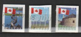 "CANADA ,N°2191-93 "" DRAPEAU NATIONAL  ET PAYSAGES - Stamps"