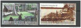 """Polynésie YT 757 Et 758 """" Monuments Et Sites """" 2005 Neuf** - French Polynesia"""