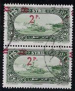 Syrie N°189 - Variété Surcharge Déplacée - Paire - TB - Syrie (1919-1945)