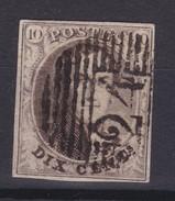 N° 6 Margé Perception 24 BXL Planche III Position 73 Retouche - 1851-1857 Médaillons (6/8)